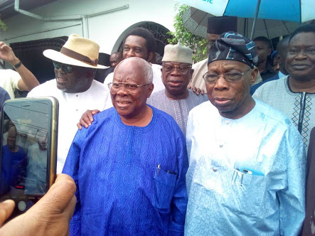 Obasanjo Is My Leader, says Bode George; Holds Closed Door Meeting With Him