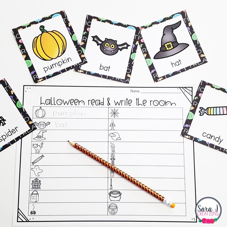 Halloween Vocabulary Activities | Sara J Creations