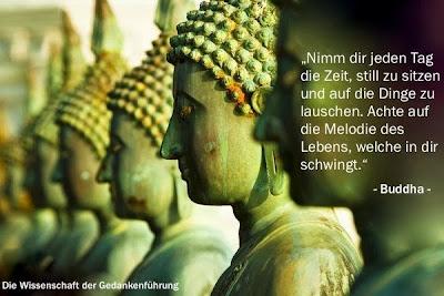Buddha - Nimm dir die Zeit.