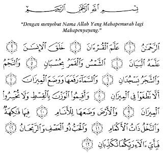 Bacaan Surat Ar-Rahman Lengkap Arab, Latin dan Artinya