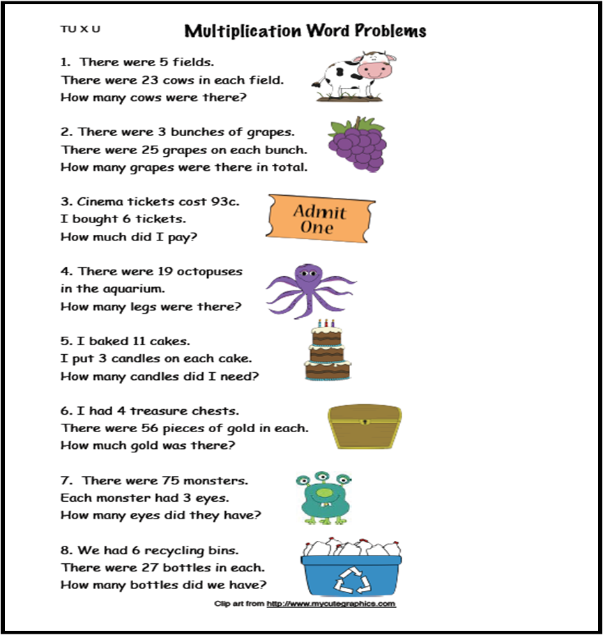 A Crucial Week Free Multiplication Word Problems Tu Xu