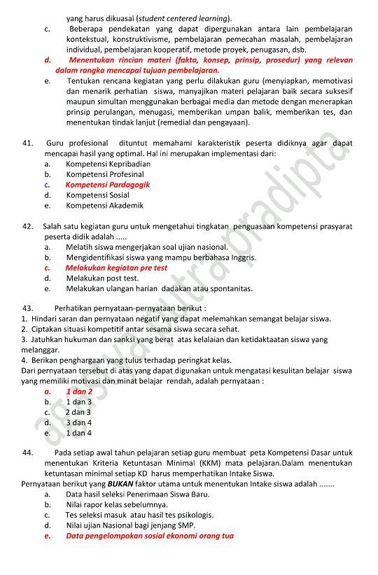 Soal Soal Latihan Soal Ukg Guru Bahasa Indonesia