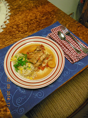 Indian Style Apricot Chicken, a slow cooker recipe