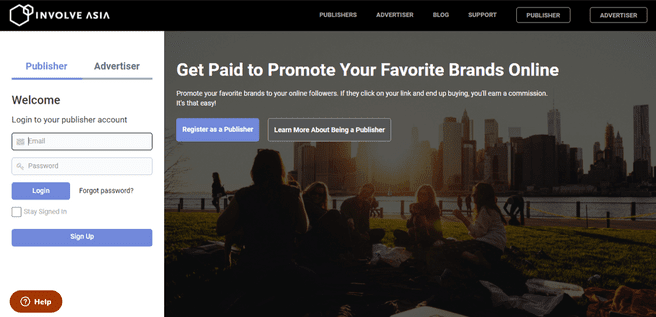 Involve Asia affiliate marketing program