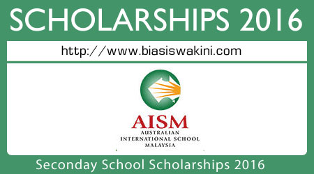 Seconday School Scholarships 2016