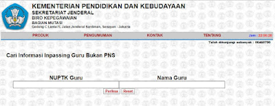 Inpassing Link Non PNS Terbaru Fitur Kemdikbud Update 7 & GBPNS 2017