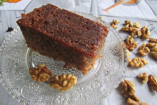 karydopita, ciasto orzechowe