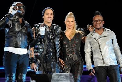 Foto de Black Eyed Peas luego de una presentación