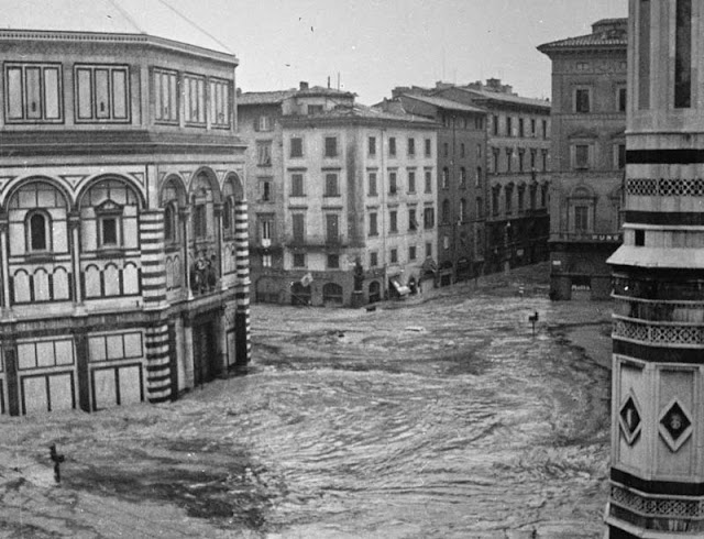 Flooded Piazza Duomo