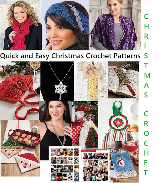 Fast and Easy New Crochet Patterns for Christmas Gifts and Decorating Ideas