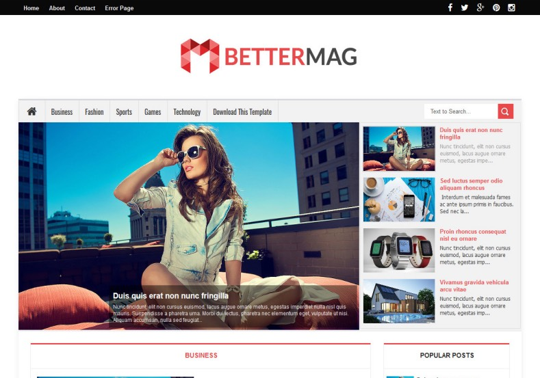 Better mag blogger template blogger templates gallery better mag blogger template wajeb Images