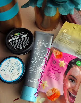 facemasks, boots the sanctuary, Superdrug and Innisfree. Soothing cucumber peel-off mask, yoghurt smoothie mask and deep cleansing clay mask for acne and blocked pores.