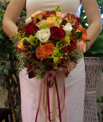 Autumn Rose Clutch Bouquet by Stein Your Florist Co.