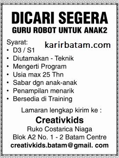 Lowongan Kerja Creativkids Indonesia