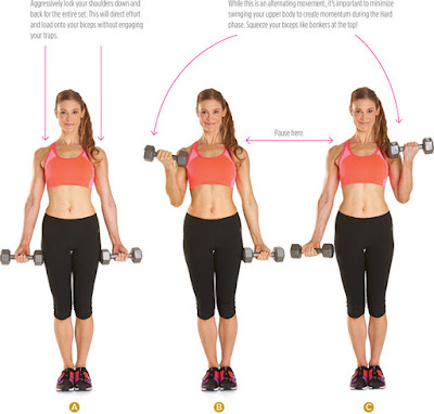 women's health - ALTERNATING DUMBBELL SUPINATED CURL
