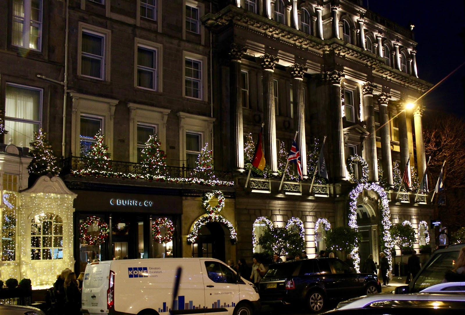 Christmas on George Street in Edinburgh