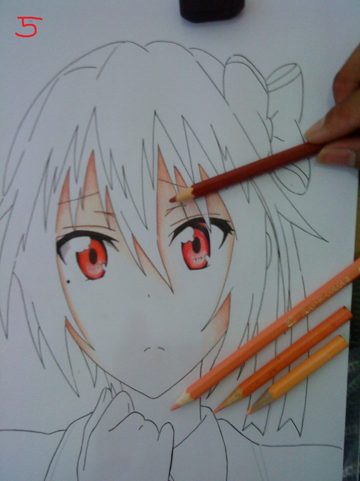 Teknik Mewarnai Gambar Wajah Dengan Pensil Warna Jcp
