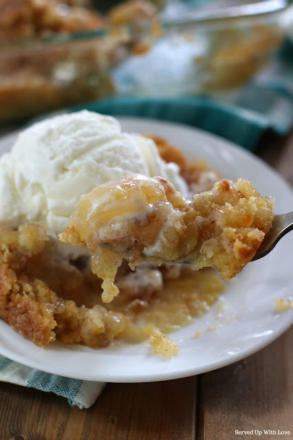 Easy Apple Cobbler Dump Cake recipe from Served Up With Love