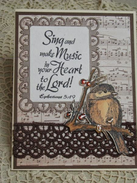 ODBD Sing To The Lord, ODBD You Will Find Refuge, ODBD Custom Chickadee Die, Card Designer Sue Worthington