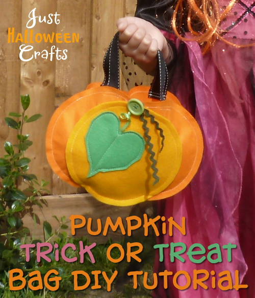 DIY felt pumpkin bag craft pattern
