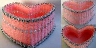 Kreasi Membuat Tempat Accessories Dari Benang Wol Dan Tusuk Gigi