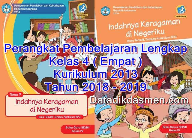 Perangkat Pembelajaran Lengkap SD Kelas 4 Kurikulum 2013 tahun 2018 - 2019
