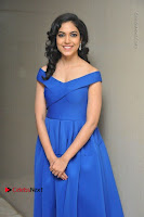 Actress Ritu Varma Pos in Blue Short Dress at Keshava Telugu Movie Audio Launch .COM 0017.jpg