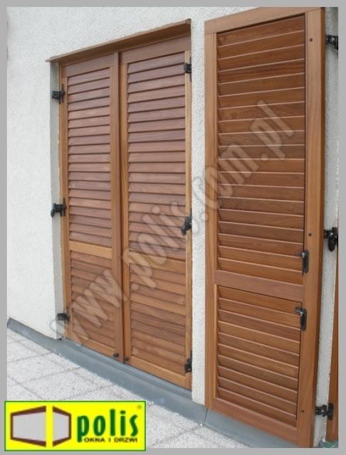 okiennice z regulowanymi szczeblinami, producent okiennic,
