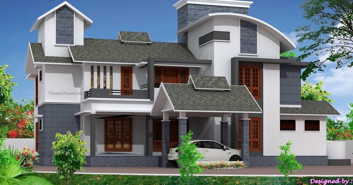 Cute kerala house elevation design kerala house plans for Cg home designs