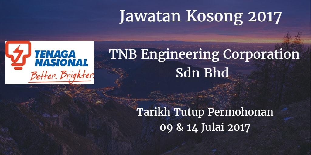 Jawatan Kosong TNB Engineering Corporation Sdn Bhd  09 & 14 Julai 2017