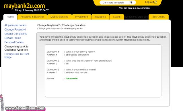 CHANGE MAYBANK2U CHALLANGE QUESTIONS