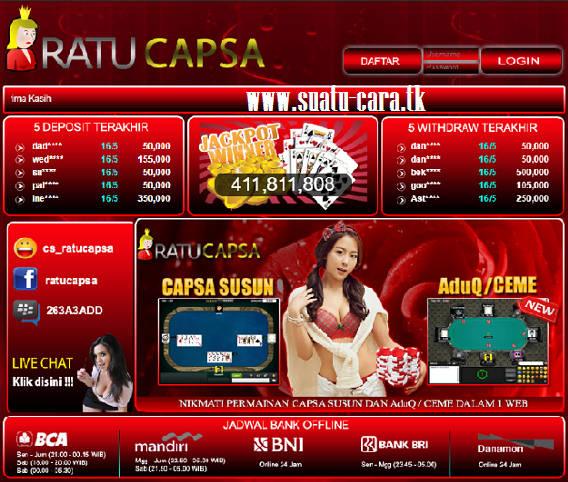 CAPSABANDARQ.com Capsa Online, Agen Bandar Q, Domino 99, Qiu QiuOnline, BandarQ