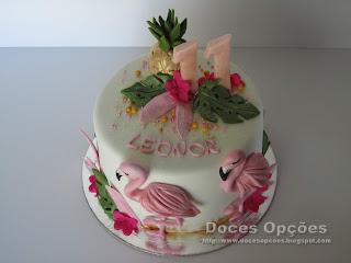 bolo flamingos bragança