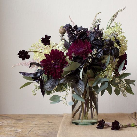 Gorgeous fall floral arrangement in vase on Hello Lovely