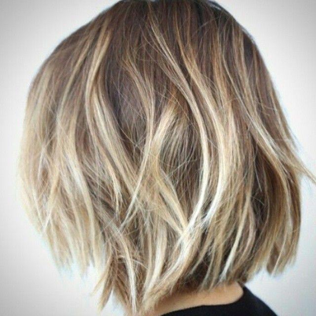 balayage hair short