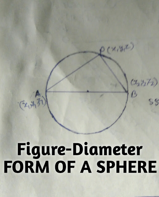 Diameter form of the equation of the a  sphere