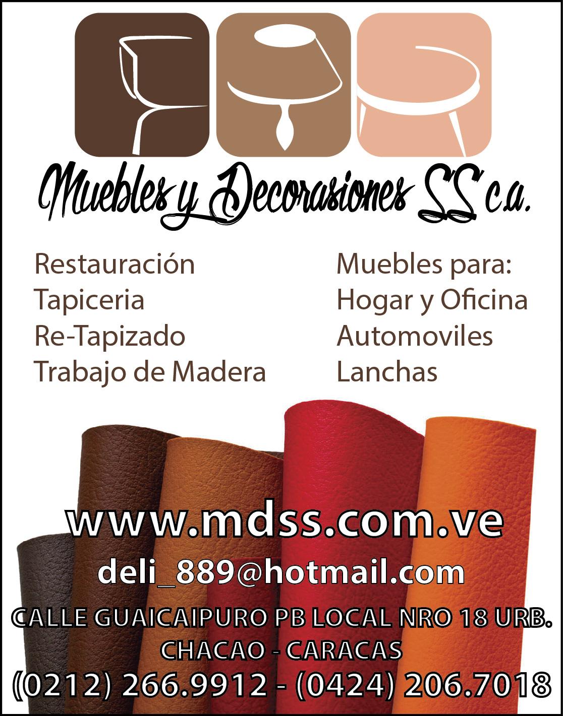 MUEBLES Y DECORACIONES SS C.A. en Paginas Amarillas tu guia Comercial