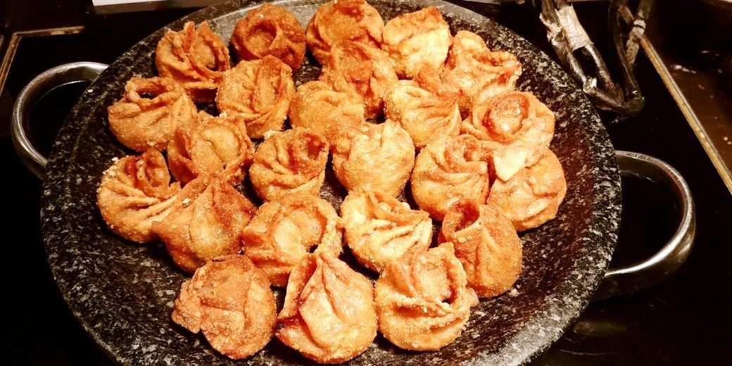 Sambo Kojin fried kimchi dumplings