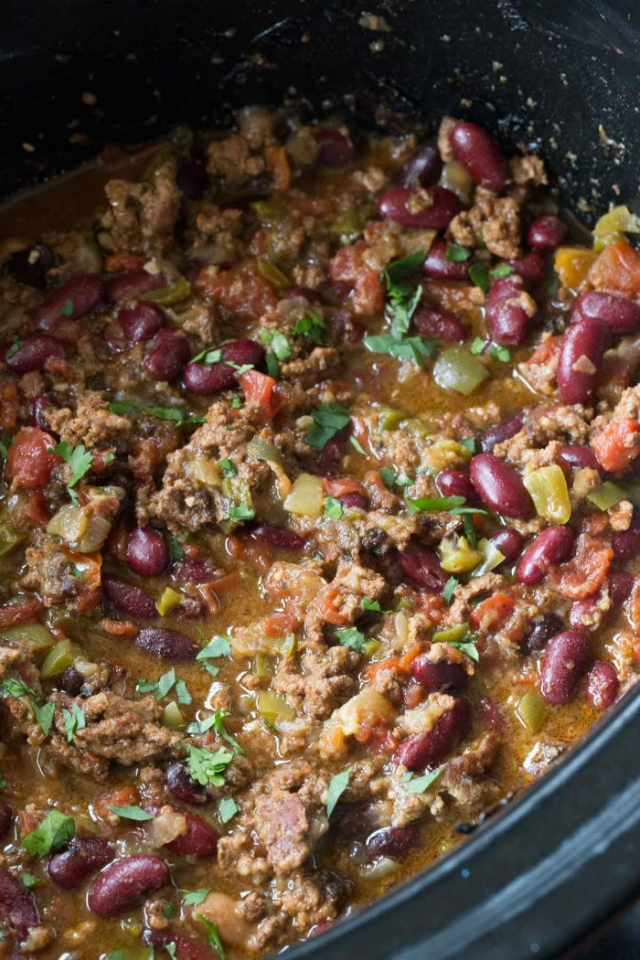 Slow Cooker Beef Chili Recipe