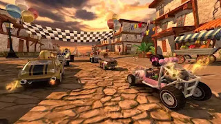 تحميل لعبة سباق الشاطئ Beach Buggy Racing مهكرة جاهزة للاندرويد