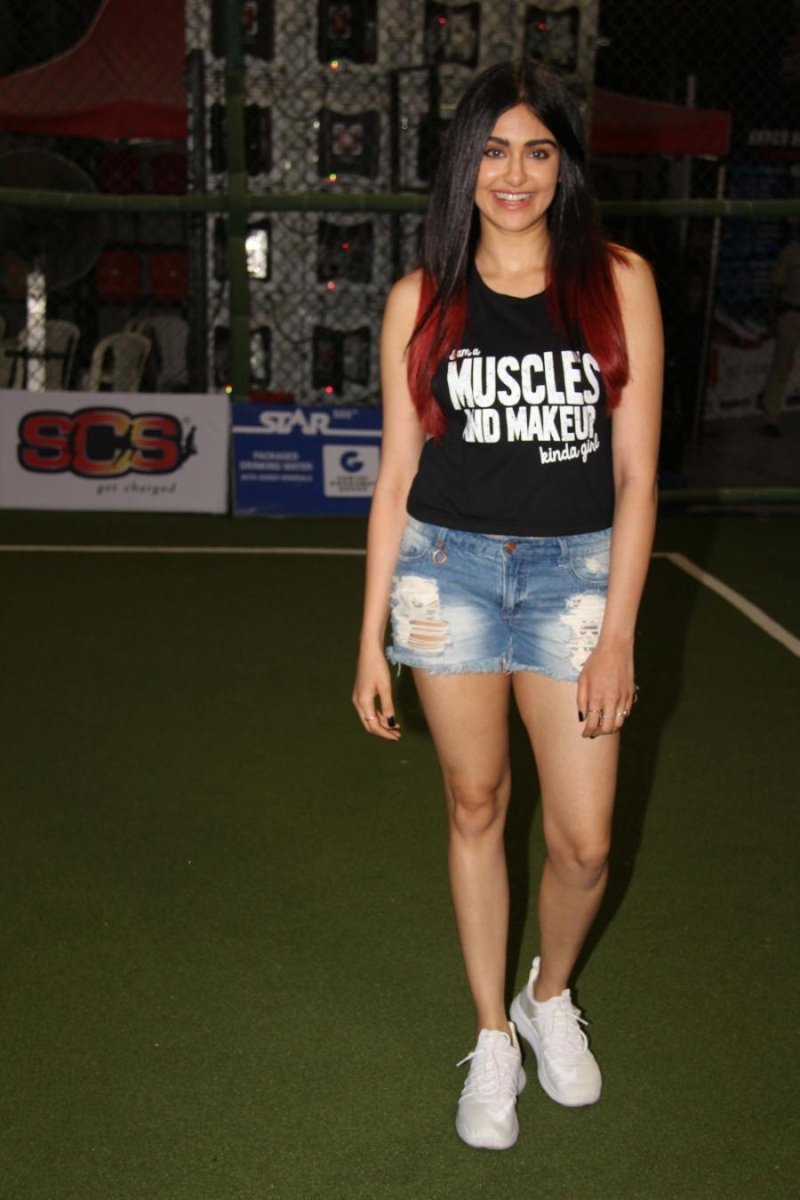 Beautiful Hyderabadi Girl Adah Sharma Photos In Mini Black Top Short