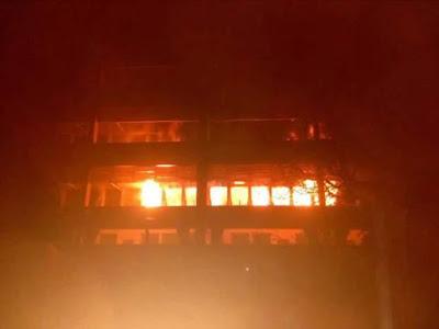 Fire destroys University of Jos Library (photos)
