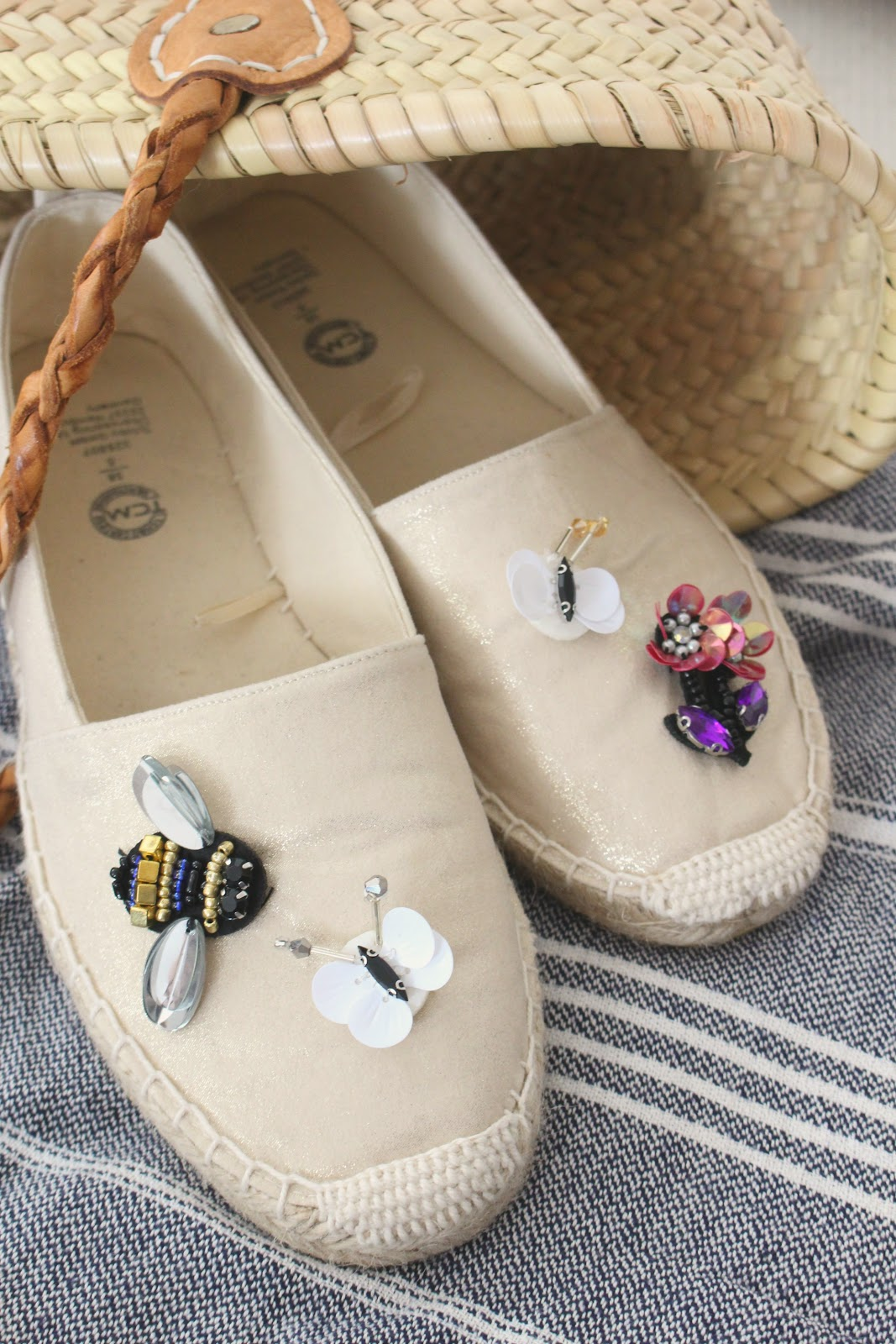 diy espadrilles mit patches aufpeppen himmelsst ck. Black Bedroom Furniture Sets. Home Design Ideas