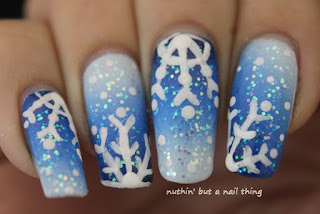 christmas winter snowflake nail art tutorial boohoo.com