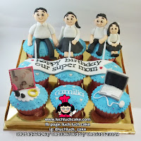 Cupcake set isi 9 Romantis