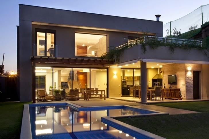 Casa brasileira com arquitetura e decora o moderna for Casas modernas contemporaneas fotos