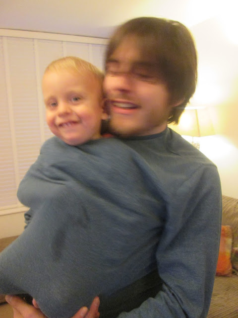 Alexander and his Daddy having fun, being silly