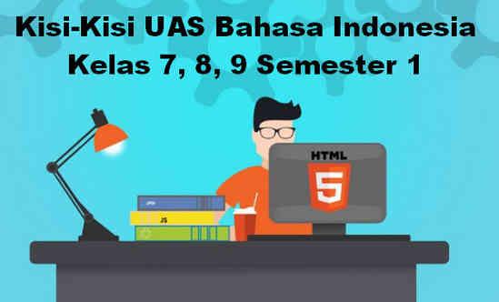 Kisi-Kisi UAS Bahasa Indonesia Kelas 7, 8, 9 Semester 1