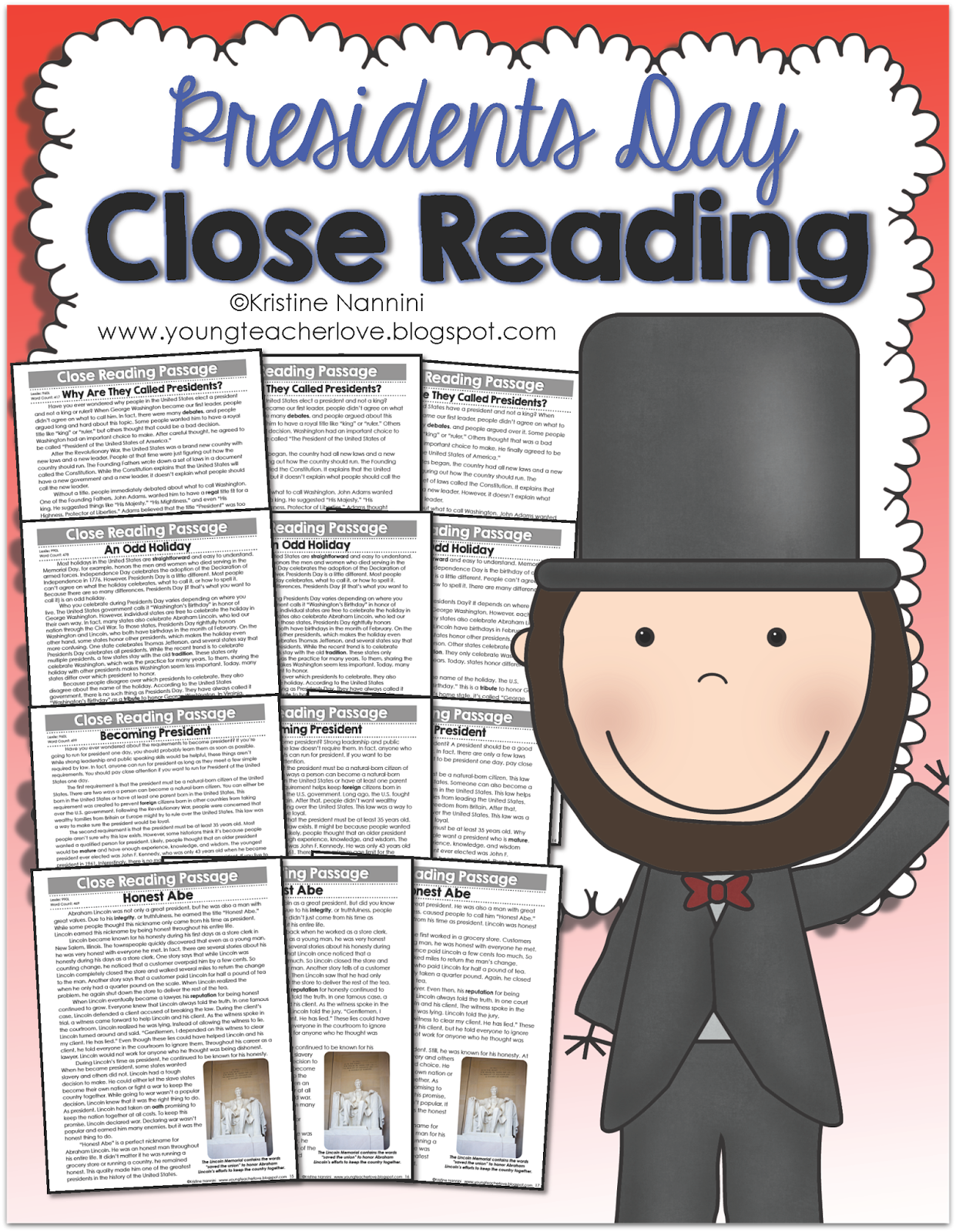 Presidents Day Close Reading Passages Text Dependent