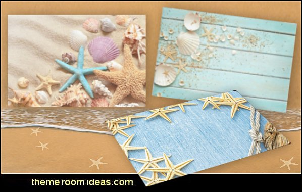 Seashells Place Mats  coastal kitchen decor - beach house kitchen - Coastal kitchen & dining - coastal Christmas kitchen decorations - Cottage Holiday decor - seafood fish shaped kitchen decor - nautical kitchen accessories - Sea Shells cutlery coastal cottage dinnerware